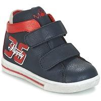 Zapatos Niño Zapatillas altas Mod'8 STARIUS Marino / Rojo