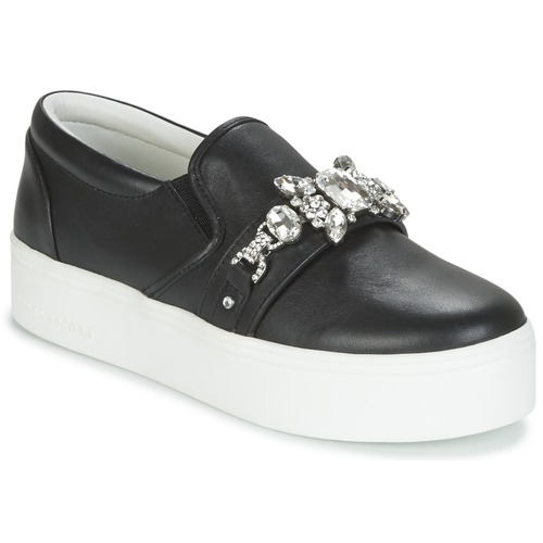 Zapatos Mujer Slip on Marc Jacobs WRIGHT EMBELLISHED SNEAKER Negro