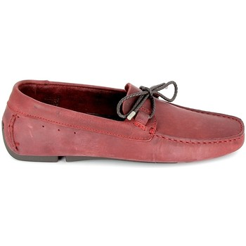 Zapatos Hombre Mocasín TBS Bagnoli Bordeaux Rojo