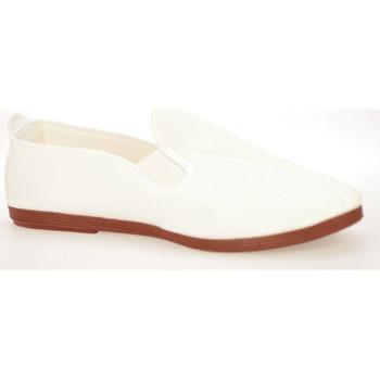 Zapatos Hombre Slip on Flossy Kung-fu lona gomas Blanco