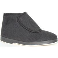 Zapatos Hombre Botas de caña baja Calzacomodo Bota paño velcro negro