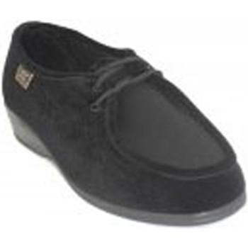 Zapatos Mujer Derbie Doctor Cutillas Zapatillas cordones pies muy delicados i negro