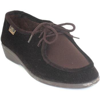 Zapatos Mujer Derbie Doctor Cutillas Zapatillas cordones pies muy delicados marrón