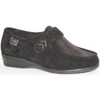 Zapatos Mujer Mocasín Doctor Cutillas Zapatillas velcro pies muy delicados negro