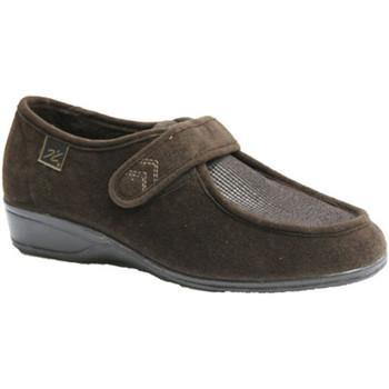 Zapatos Mujer Mocasín Doctor Cutillas Zapatillas velcro pies muy delicados marrón