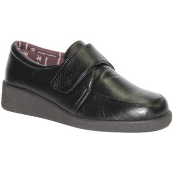 Zapatos Mujer Mocasín Doctor Cutillas Zapato velcro pies muy delicado negro