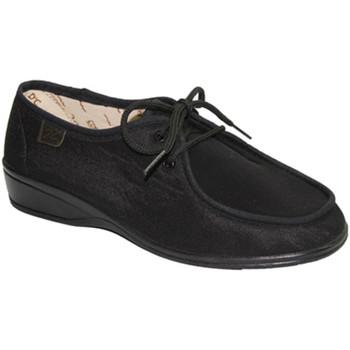 Zapatos Mujer Derbie Doctor Cutillas Zapatillas cordones pies muy delicados v negro