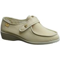 Zapatos Mujer Mocasín Doctor Cutillas Zapatillas velcro pies muy delicados beige