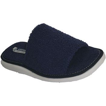 Zapatos Mujer Zuecos (Mules) Andinas Chancla toalla de puntera abierta toalla azul