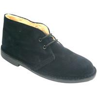 Zapatos Hombre Botas de caña baja El Corzo Bota safari con forro negro