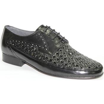 Zapatos Hombre Mocasín 30´s Zapato rejilla con cordon negro