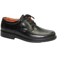 Zapatos Hombre Derbie Made In Spain 1940 Zapato muy cómodo de pala lisa negro