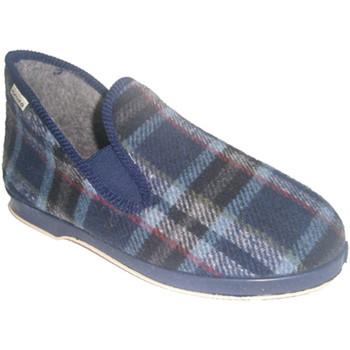 Zapatos Hombre Pantuflas Muro Zapatilla con talón alto azul