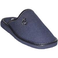 Zapatos Hombre Pantuflas Andinas Chanclas de caballero puntera cerrada azul