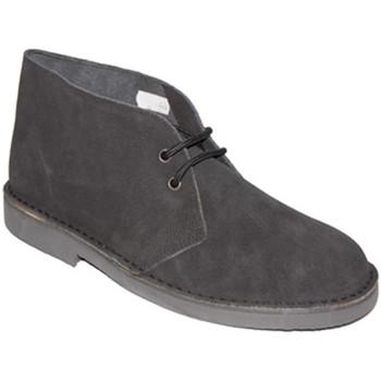 Zapatos Hombre Botas de caña baja El Corzo Bota safari sin forro negro