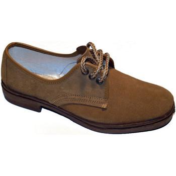 Zapatos Hombre Derbie Vulsega Zapato trabajo cordones serraje marrón