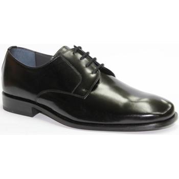 Zapatos Hombre Derbie Made In Spain 1940 Zapato cordones vestir liso negro