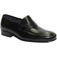 Zapatos Hombre Mocasín Made In Spain 1940 Zapato sin cordones muy ancho negro