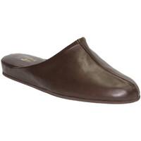 Zapatos Hombre Zuecos (Clogs) Trigono Chanclas caballero piel marrón