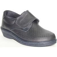 Zapatos Hombre Mocasín Farma Zueco trabajo piel velcro caballero azul