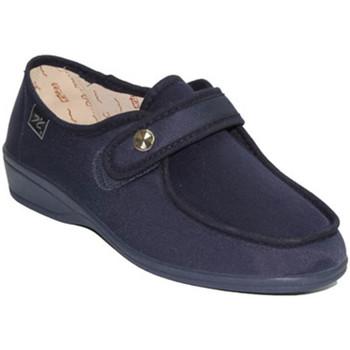Zapatos Mujer Mocasín Doctor Cutillas Zapatillas velcro pies muy delicados azul