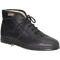 Zapatos Mujer Zapatillas altas De Carmelo Bota de tela imitando material negro
