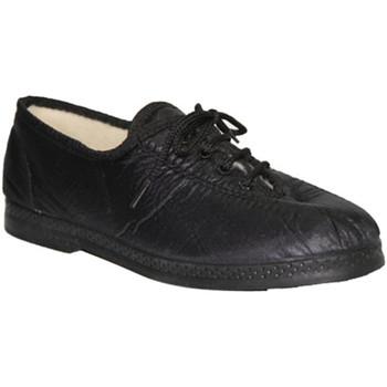 Zapatos Mujer Richelieu De Carmelo Zapato de tela imitando material negro