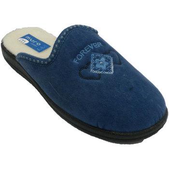 Zapatos Mujer Pantuflas Muro Zapatilla chancla azul
