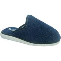 Zapatos Mujer Pantuflas Andinas Chancla toalla de puntera cerrada toalla azul