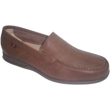 Zapatos Hombre Mocasín Made In Spain 1940 Zapato verano suela de goma marrón