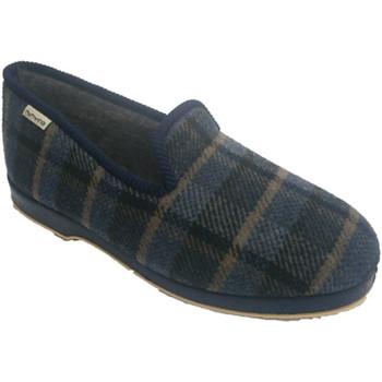 Zapatos Hombre Pantuflas Muro Zapatilla de estar en casa clásica de cu azul