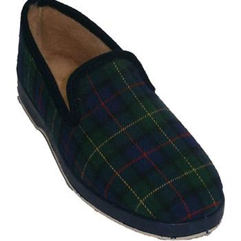 Zapatos Mujer Pantuflas Calzacomodo Clásica zapatilla de cuadros con forro d azul