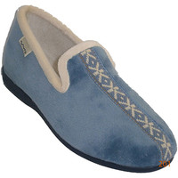 Zapatos Mujer Pantuflas Muro Zapatilla cerrada con cenefa en la pala azul
