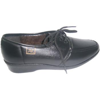 Zapatos Mujer Derbie Doctor Cutillas Zapato cómodo de cordones negro