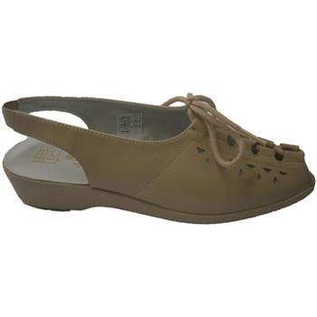 Zapatos Mujer Sandalias Doctor Cutillas Sandalia de cordones beige