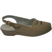 Zapatos Mujer Sandalias Doctor Cutillas Sandalia con gomas en el empeine con for beige