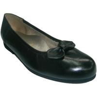 Zapatos Mujer Bailarinas-manoletinas Roldán Manoletina plana con gomas alrededor negro