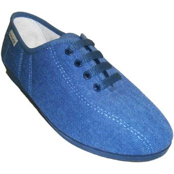 Zapatos Mujer Pantuflas Muro Zapatillas cordones cuña azul