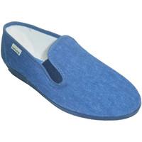 Zapatos Mujer Pantuflas Muro Zapatilla clásica con cuña baja azul