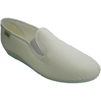 Zapatos Mujer Pantuflas Muro Zapatilla clásica con cuña baja blanco