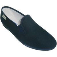 Zapatos Mujer Slip on Muro Zapatilla clásica con cuña baja azul