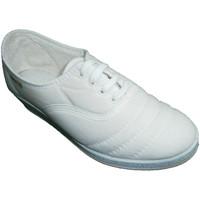Zapatos Mujer Tenis Calzacomodo Zapatilla cordones cuña para andar blanco