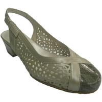 Zapatos Mujer Sandalias Roldán Zapatos punta cerrada talon abierto rejilla gris