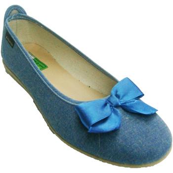 Zapatos Mujer Bailarinas-manoletinas Made In Spain 1940 Manoletina con lazo azul