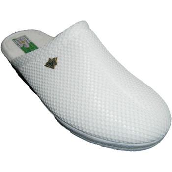 Zapatos Mujer Pantuflas Made In Spain 1940 Zuecos rejilla forro de toalla de algodó blanco