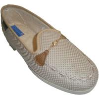Zapatos Mujer Mocasín Made In Spain 1940 Zapatillas cerradas de rejilla adorno ca beige