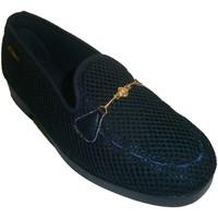 Zapatos Mujer Mocasín Made In Spain 1940 Zapatillas cerradas de rejilla adorno ca azul