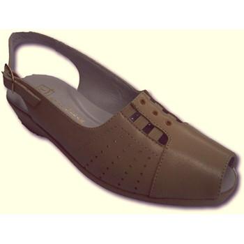 Zapatos Mujer Sandalias Doctor Cutillas Sandalias señora empeine gomas muy cómod beige