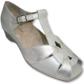 Zapatos Mujer Sandalias Piesanto Sandalias cerradas por detrás y punta abierta combinadas beig y beige