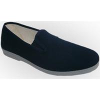 Zapatos Hombre Pantuflas Chapines Zapatillas lona con gomas a los lados se azul